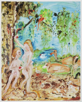Genieve FIGGIS | Adam and Eve | Mixed Media available for sale on composition gallery