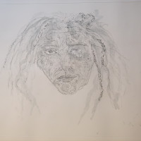 Kiki SMITH | 1st State Self Portrait | Etching available for sale on composition gallery