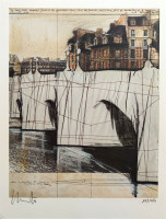 Javacheff CHRISTO | Pont Neuf Wrapped | Lithograph available for sale on composition gallery