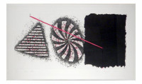 James ROSENQUIST | Black Star | Etching available for sale on composition gallery