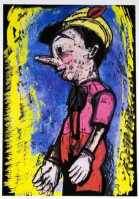 Jim DINE | Lincoln Center Pinocchio | Mixed Media available for sale on composition gallery