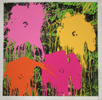 MR. BRAINWASH | Flower$ | Screen-print available for sale on composition gallery