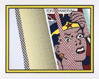 Roy LICHTENSTEIN | Reflections on Minerva | Mixed Media available for sale on composition gallery