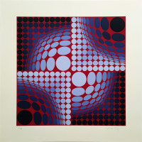 Victor - VASARELY - Untitled - Silkscreen - available for sale on composition.gallery